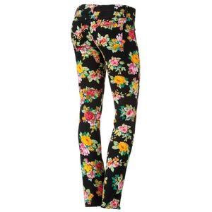 MUDD Floral Skinny Jeans
